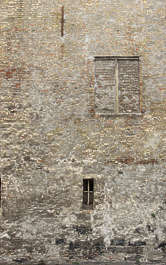 brick small medieval dirty old plastered