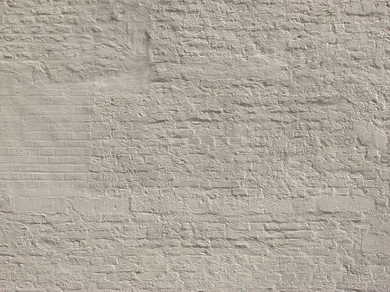 brick small dirty white paint plastered