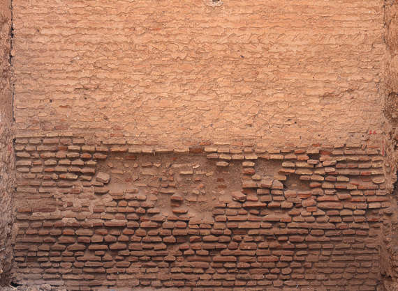 brick plastered old morocco