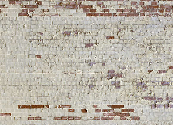 brick plastered weathered