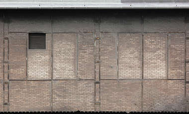 brick wall facade small reinforced metal