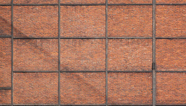 brick small brown reinforced metal
