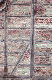 brick small medieval old wood reinforced