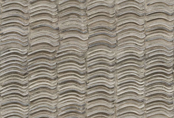 concrete wall rooftiles stack stacked roof tiles