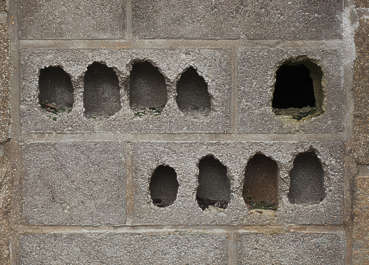 brick hole holes damaged