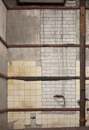 tiles bare construction plastered cement bricks mixed