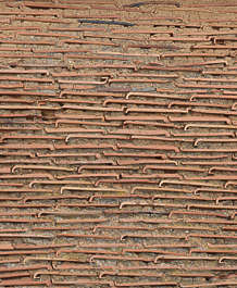 rooftiles wall ceramic plastered