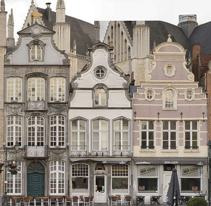 building old facade windows belgium ornate