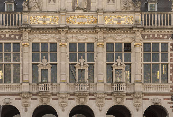 building old facade windows belgium ornate city hall
