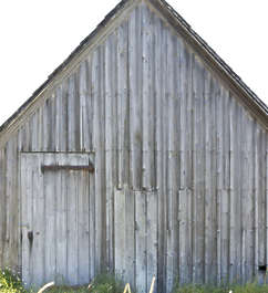 UK building facade wooden shed barn