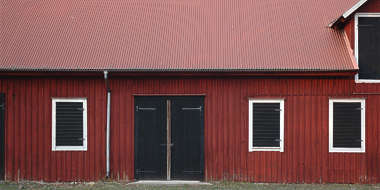 barn facade wood door window