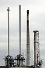chemical plant factory petrochemical petro pipe pipes chimney chimneys