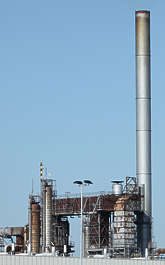 factory petro chemical plant chimney