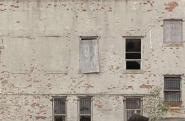 new york ny united states usa building facade derelict old residential