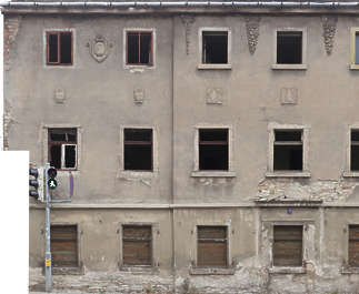 building facade old germany weathered derelict