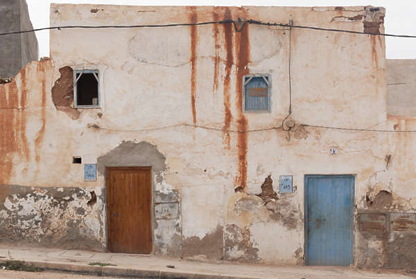north africa arabia arabian morocco building facade old leaking
