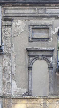 building facade derelict window old dirty damaged weathered