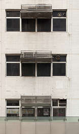 window windows hong kong building facade house old asian towerblock