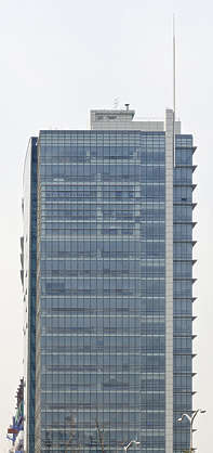 south korea seoul asian asia building facade highrise office glass modern