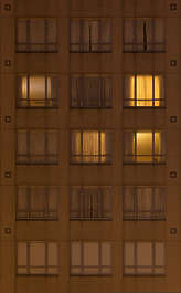 highrise high rise facade night windows