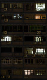 highrise high rise facade night windows skyscraper