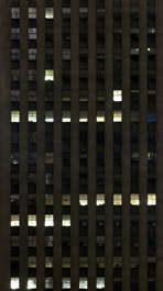 building highrise high rise new york facade office night