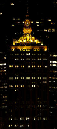 building highrise high rise new york facade helmsley office night