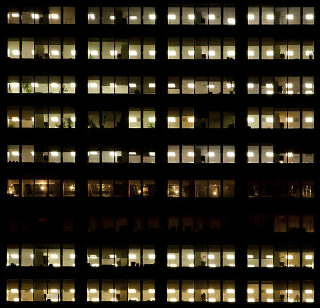 Image Result For Working In A Tall Office Building At Night