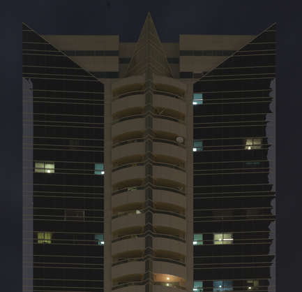 saudi arabia dubai middle east highrise building skyscraper night