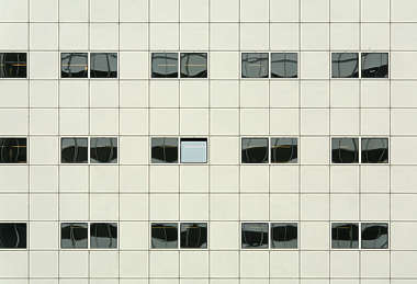 facade building highrise high rise office tower flat window windows