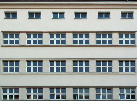building facade highrise window windows