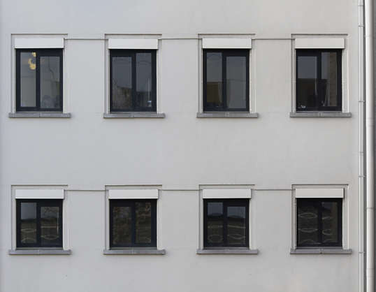 building facade office window windows