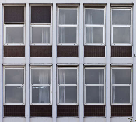 window windows highrise office old