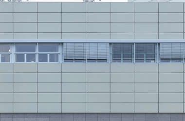 tiles plain panels facade panelling building windows offices office