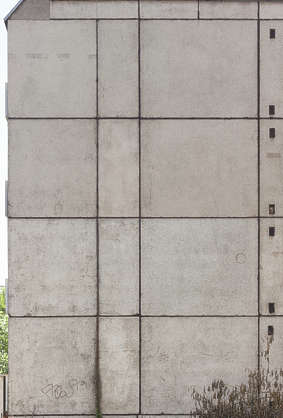 building facade concrete blocks slabs soviet tenement