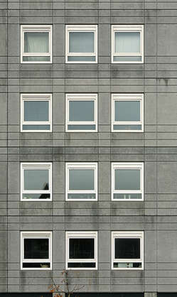 building facade highrise high rise window windows appartments