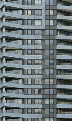 building facade highrise high rise window windows appartments tower