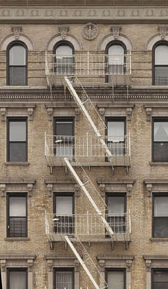 new york ny united states usa building facade residential highrise staircase fire escape
