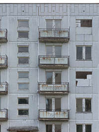 building residential block soviet