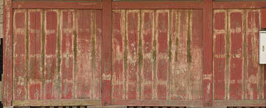 japan wood planks painted worn weathered facade