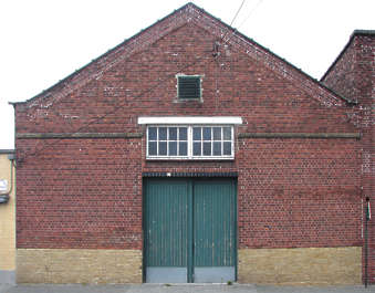 door garage building facade