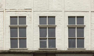 building facade window windows brick reinforced old