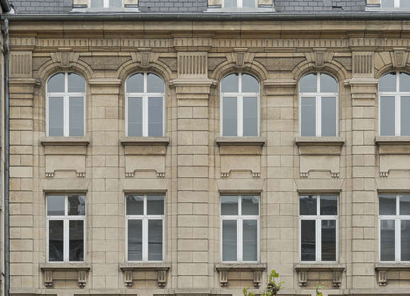 building old facade windows belgium ornate neo classical