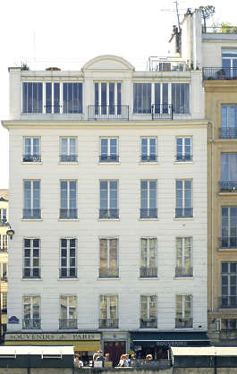 building facade paris france neoclassical historical