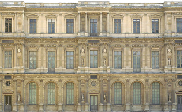 building facade louvre palace paris france neoclassical historical