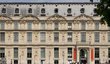 building facade ornate louvre france neoclassical historical