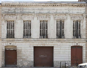 building historical facade france weathered dirty neoclassical