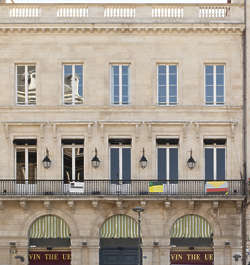 building historical facade france arches neoclassical