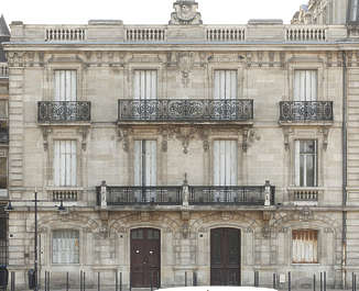 building historical facade france balcony neoclassical