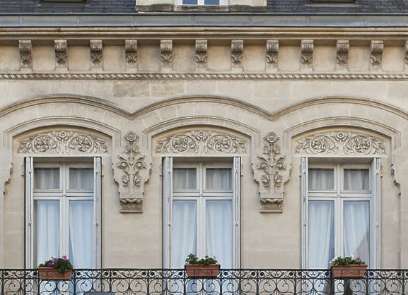 building historical facade france deco ornate ornaments windows